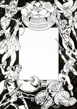 Dessin A4 PAGE SOMMAIRE SUP HEROS PHOTONIK EPSILON KRONOS OW! MITTON encré