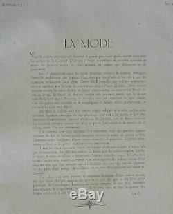 Dessin Croquis Mode 1927 Planche Couleur Art Deco Annees Folles Modele A25250