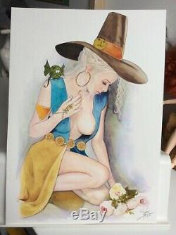 Dessin Original Dedicace Planche Bd Hommage Calendula Isabelle Femme Art Akt