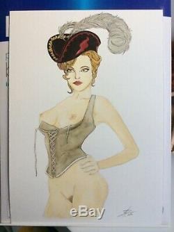 Dessin Original Dedicace Planche Bd Hommage Femme Pirate Marin Pin Up Babe