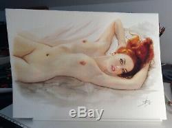 Dessin Original Femme Dedicace Planche Bd Akt Nudo Nude Nu Feminin Woman A 090
