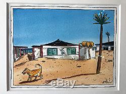 Dessin Original LOUSTAL ZENATA PLAGE Illustration 2227 CM (Encadré 3440 CM)
