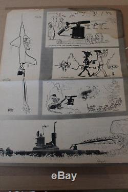Dessin et collage original de Sempé + revue de parution
