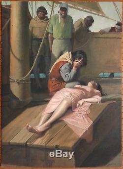 Dessin gouache de Gino BOCCASILE (1901-1952) illustration Le Decameron