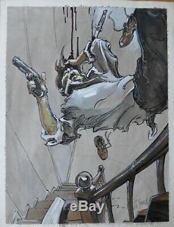 Dessin original Guillaume SOREL (planche originale illustration)