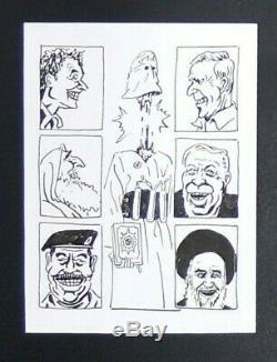 Dessin original à la plume de Willem (Dessin de presse, satyrique, caricature)