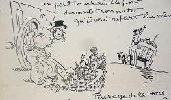 Dessin original de CHANCEL paru dans RIC ET RAC vers 1935 planche originale