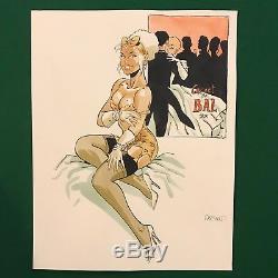 Dessin original de Félix Meynet Dior Carnet de Bal