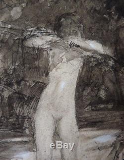 Dessin original de Fernand HERTENBERGER (1882-1970) femme nue érotisme