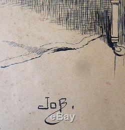 Dessin original de JOB (1858-1931) illustration Militaire militaria 1890