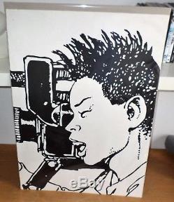 Dessin original réalisé pour l'expo Milo Manara à La louvière en Belgique 1990