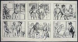 Dessin planche originale de Georges QUESNEL vers 1910 Napoléon révolution