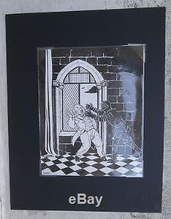 Didier Savard dessin original encre de Chine Signé 18X22 La Nuit Tragique Ray