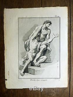 Encyclopédie Diderot D'Alembert 1 PLANCHE Dessin Figures groupées 18e s