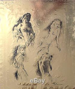 Femme nue Dessin original encre de Fabien FABIANO (1883-1962)