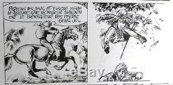 Franz Planche originale Thierry le Torrent et les Margandiers