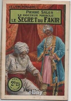 Gouache originale de STARACE. LE SECRET DU FAKIR de Pierre Salle. Fayard 1926
