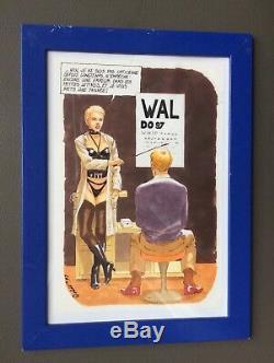 Gouache originale de Waldo signée pour les opticiens