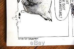HAUSMAN BINET Rare double planche originale (Fluide Glacial 1979)