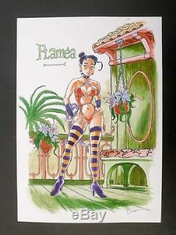 HUBSCH Plonéis de Troy illustration originale Flaméa A3