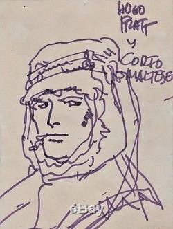 Hugo PRATT Dessin original Corto MALTESE signé rare