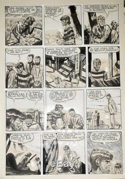 Hugo PRATT, planche originale pour JUNGLEMEN, années'50