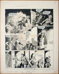 Jane Bond secret agent planche originale de Mike HUBBARD daté 1969