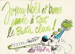 Jean ROBA Dessin original gouaché signé