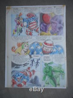 Jean-yves Mitton Mikros Superbe Planche Originale Titans 35 Page 48 + Calque