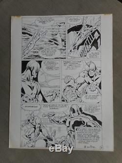 Jean-yves Mitton Mikros Superbe Planche Originale Titans 67 Page 38 + Calque