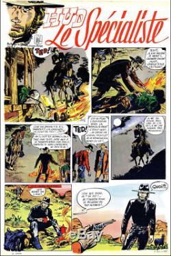 Johnny HALLIDAY planche originale de JIJÉ pour Hud le spécialiste 1970