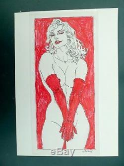 KAS dessin original préparatoire de Dana Halloween Blues sur calque