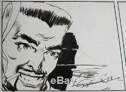 LA GAZELLE BLANCHE Planche originale par Edmundo MARCULETA en 1949