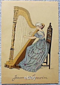 LANVIN Jeanne rare et intéressante planche en couleur de 1910 dessin J BARON