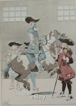 Le Chic a Cheval L Vallet 1891 Eleve du Marquis de Newcastle Planche 33 x 25