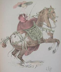 Le Chic a Cheval L Vallet 1891 Marquise de Newcastle Planche 33 x 25