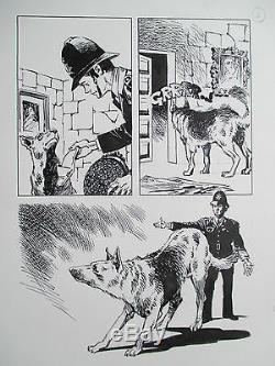 Le Policeman Et Son Chien Dessins Ortiz Superbe Planche Originale Aredit Page 4