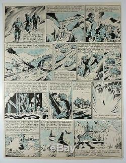 Liquois Marijac Planche originale 39 Guerre à la terre TBE