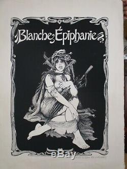 Lithographie originale BD G. Pichard Blanche épiphanie Paulette érotisme Charlie