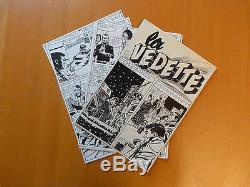 Lot 14 Planches Dessin Encre Bd Planche Original Histoire Complet La Vedette