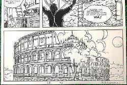 MANARA PLANCHE ORIGINALE CANDIDE CAMERA 2 PAGE 2 Dimension 6348 CM SIGNEE