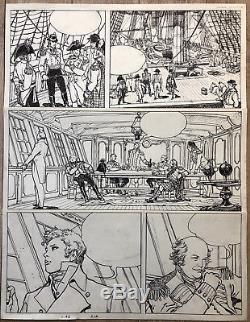 MANARA PLANCHE ORIGINALE EL GAUCHO PAGE 14 Dimension 6248 CM TBE