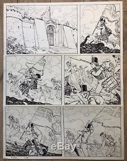 MANARA PLANCHE ORIGINALE EL GAUCHO PAGE 98 Dimension 6248 CM TBE