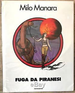 MANARA PLANCHE ORIGINALE PIRANESE PLANETE PRISON COUVERTURE! Dim 5165 CM