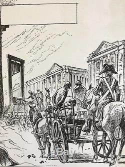 MANARA Rare planche originale Histoire de France Révolution Française 1977