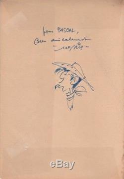 MORRIS L'Elixir du docteur Doxey, dédicace, dessin original, édition originale