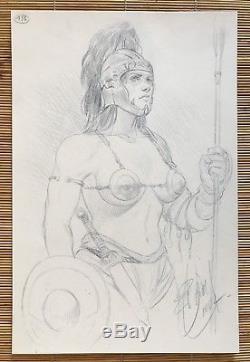 MURENA Sublime Illustration Originale Au Fusain Bleu Publiée En 2002 (DELABY)