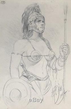 MURENA Sublime Illustration Originale Publiée En 2002 Au Fusain Bleu (DELABY)