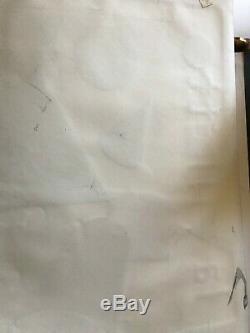 Maquette. Dessin planche originale PARCK DE LA VILETTE