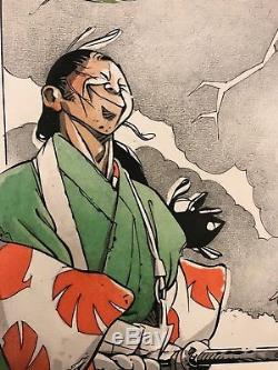 Michetz, Marc Dessin original en couleur Projet pour une sériegraphie Koga